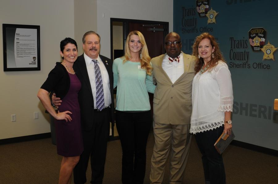 Heather Bellino, Chief Deputy Jim Sylvester,Mariah Skye Smith,Sheriff Greg Hamilton, Candance Lambert