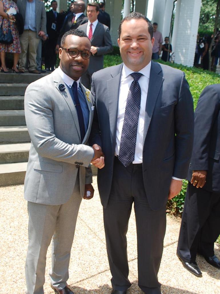 VaShawn Mitchell, NAACP PRESIDENT Benjamin Jealous