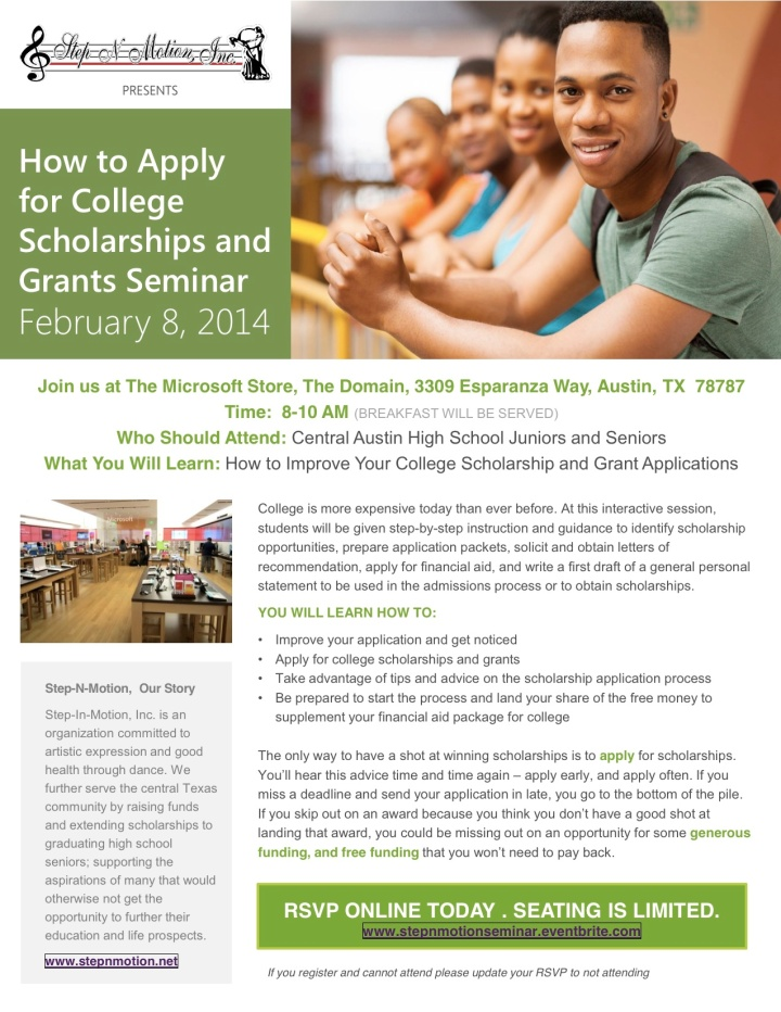 Scholarship App Seminar Overview