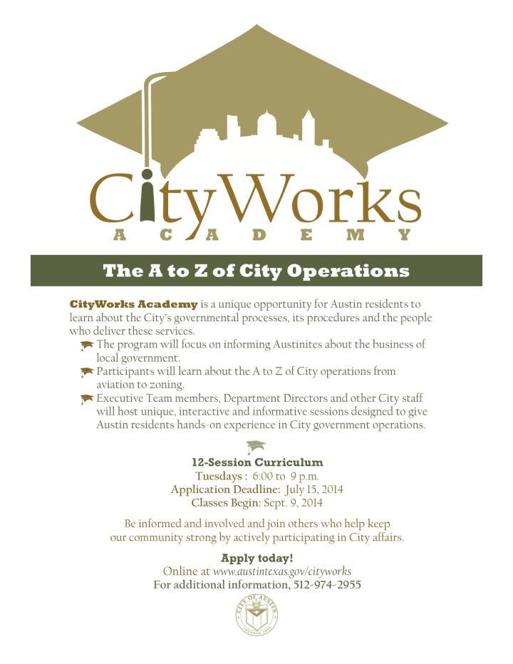 CityWorks Application