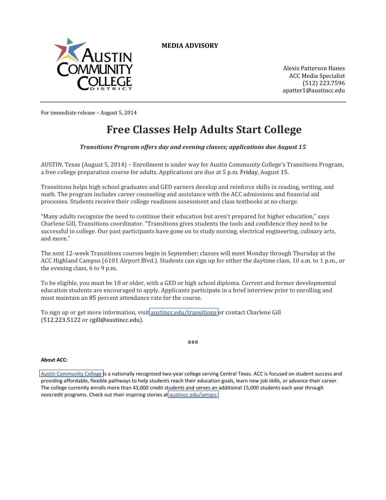 acc adult classes