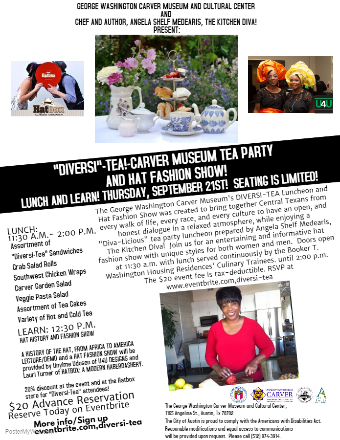 MEDEARIS, CARVER, DIVERSI-TEA PARTY FLYER